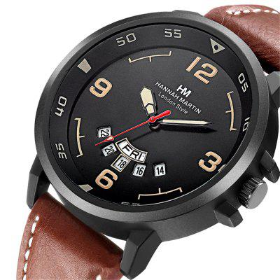 Hannamading 1602 4846 Fashion Double Calendar Men Quartz Watch with BoxMens Watches<br>Hannamading 1602 4846 Fashion Double Calendar Men Quartz Watch with Box<br><br>Band material: Leather<br>Band size: 26 x 2cm<br>Brand: Hannamading<br>Case material: Alloy<br>Clasp type: Pin buckle<br>Dial size: 4.5 x 4.5 x 1cm<br>Display type: Analog<br>Movement type: Quartz watch<br>Package Contents: 1 x Watch, 1 x Box<br>Package size (L x W x H): 28.00 x 8.00 x 3.50 cm / 11.02 x 3.15 x 1.38 inches<br>Package weight: 0.0800 kg<br>Product size (L x W x H): 26.00 x 4.50 x 1.00 cm / 10.24 x 1.77 x 0.39 inches<br>Product weight: 0.0500 kg<br>Shape of the dial: Round<br>Watch mirror: Mineral glass<br>Watch style: Casual, Business, Fashion<br>Watches categories: Men<br>Water resistance: Life water resistant