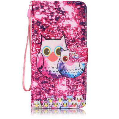 Buy PINK Painted PU Phone Case for iPhone 7 Plus / 8 Plus for $4.81 in GearBest store