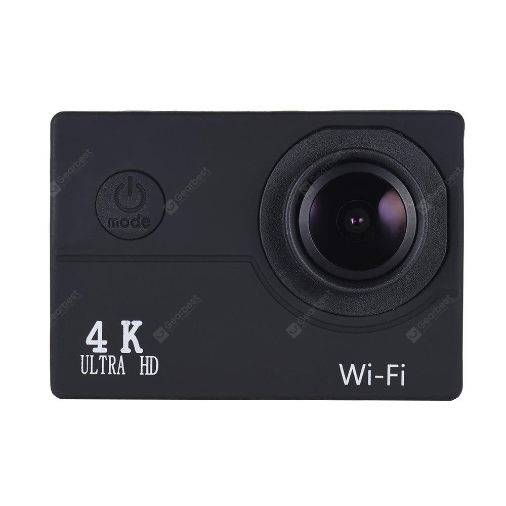 Gearbest Action Cam - 16MP 4K FHD 1080P 2.0 LCD WIFI Waterproof 40M Action Sports Camera - BLACK