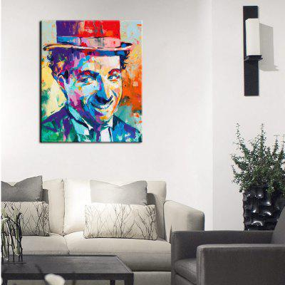 YHHP Canvas Print Smiling Man Wall Decor for Home Decoration