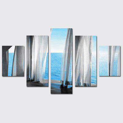 Buy COLORMIX QiaoJiaoHuanYuan No Frame Canvas Sea View Decoration Print 5PCS for $32.14 in GearBest store