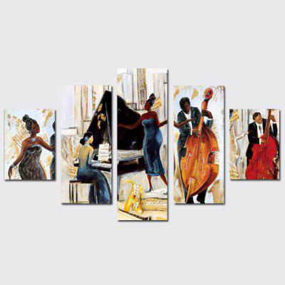 QiaoJiaoHuanYuan No Frame Canvas Music Party Decoration Print 5PCS