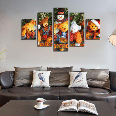 QiaoJiaoHuanYuan No Frame Canvas Doll Decoration Print 5PCS
