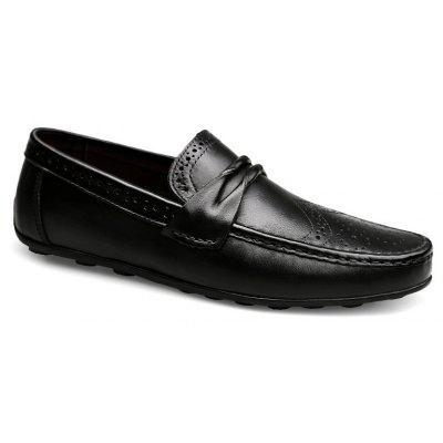 Buy BLACK 46 Men's New Fashion Head Layer Cowhide Business Shoes for $63.28 in GearBest store