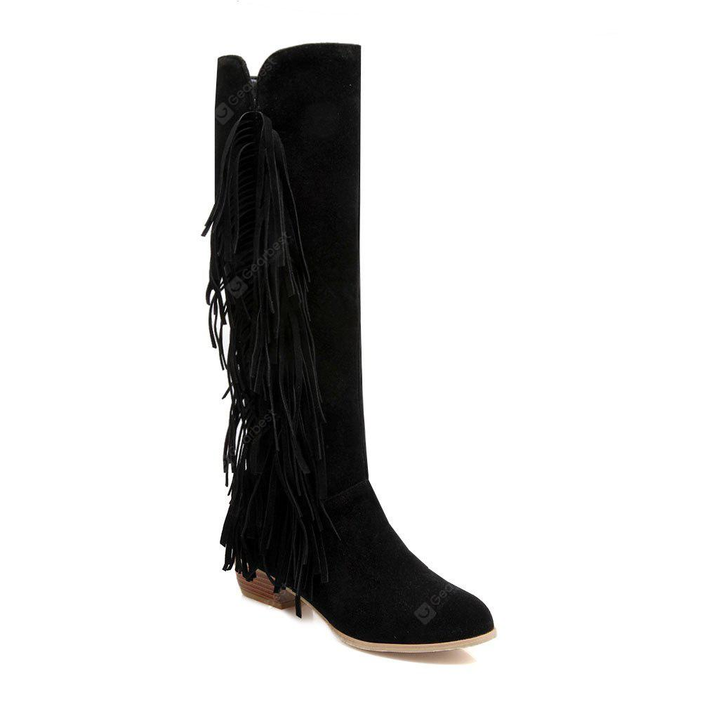 Comodità Retro Tassel All-Match Stile Low Heeled Stile All-Match Retro Tassel Comfort
