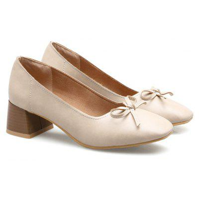 Womens Thick Heel Pumps PU Material Thick Heels Square Head Rubber Sole Soft Breathable ShoesWomens Flats<br>Womens Thick Heel Pumps PU Material Thick Heels Square Head Rubber Sole Soft Breathable Shoes<br><br>Available Size: 34-39<br>Closure Type: Slip-On<br>Embellishment: Bow<br>Flat Type: Mary Janes<br>Gender: For Women<br>Heel Height: 4.5<br>Heel Height Range: Med(1.75-2.75)<br>Occasion: Casual<br>Outsole Material: Rubber<br>Package Contents: 1 x Shoes?pair?<br>Package size (L x W x H): 28.00 x 22.00 x 10.00 cm / 11.02 x 8.66 x 3.94 inches<br>Package weight: 0.2000 kg<br>Pattern Type: Solid<br>Season: Summer, Winter, Spring/Fall<br>Toe Shape: Square Toe<br>Toe Style: Closed Toe<br>Upper Material: PU