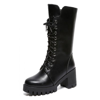 ALS-F16 Thick Boots Thick and High School Womens ShoesWomens Boots<br>ALS-F16 Thick Boots Thick and High School Womens Shoes<br><br>Boot Height: Mid-Calf<br>Boot Type: Motorcycle Boots<br>Closure Type: Lace-Up<br>Gender: For Women<br>Heel Type: Chunky Heel<br>Package Contents: 1 x Shoes?pair?<br>Pattern Type: Solid<br>Season: Spring/Fall, Winter, Summer<br>Toe Shape: Round Toe<br>Upper Material: PU<br>Weight: 1.1000kg