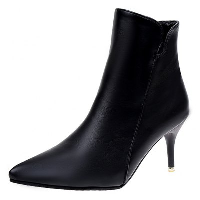 NJ-118Pointed High Heels Zip Martin BootsWomens Boots<br>NJ-118Pointed High Heels Zip Martin Boots<br><br>Boot Height: Ankle<br>Boot Type: Fashion Boots<br>Closure Type: Zip<br>Gender: For Women<br>Heel Type: Stiletto Heel<br>Package Contents: 1 x Shoes?pair?<br>Pattern Type: Solid<br>Season: Spring/Fall, Winter<br>Toe Shape: Pointed Toe<br>Upper Material: PU<br>Weight: 1.0000kg