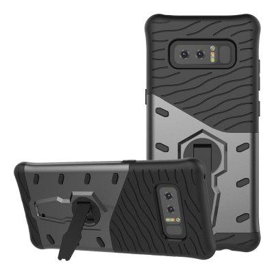 Shockproof with Stand 360 Rotation Back Cover Contrast Color Hard PC Case for Samsung Galaxy Note 8