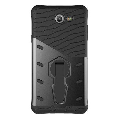 Buy BLACK Resistant Defender Bumper Rugged Hard Kickstand Cover Case for Samsung J7 for $4.45 in GearBest store