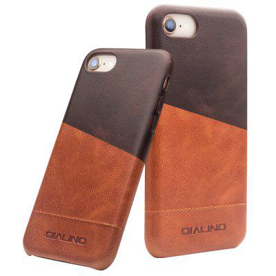 QIALINO 4.7 inch Handmade Genuine Leather Back Case Mix Color Phone Cover for iPhone 7 / 8