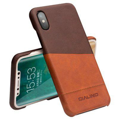 QIALINO Handmade Genuine Leather Voltar Case Mix Color Phone Cover para iPhone X