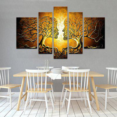 YHHP Love Tree Canvas Print for Home Decoration 5PCS