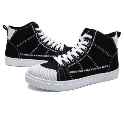 Men High Vamp Flat ShoesCasual Shoes<br>Men High Vamp Flat Shoes<br><br>Available Size: 39 40 41 42 43 44<br>Closure Type: Lace-Up<br>Embellishment: None<br>Gender: For Men<br>Outsole Material: Rubber<br>Package Contents: 1?Shoes(pair)<br>Pattern Type: Others<br>Season: Spring/Fall<br>Toe Shape: Round Toe<br>Toe Style: Closed Toe<br>Upper Material: Cotton Fabric<br>Weight: 1.0200kg
