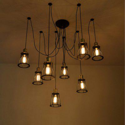 DengLiangZhiXin Scandinavian Industrial Scattered Spider Line Pendant Light