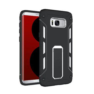 Shockproof with Stand Back Cover Contrast Color Hard Case for Samsung Galaxy S8 Plus
