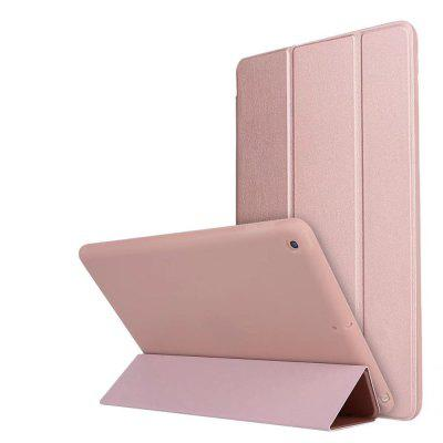 Con Stand Auto Sleep Wake Up Full Body Cover Color sólido PU Leather + Silicone Case para iPad 9.7 2017
