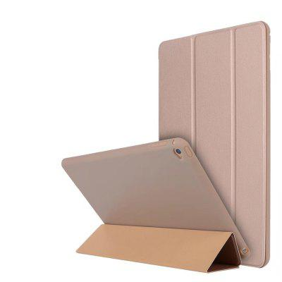 With Stand Auto Sleep Wake Up Full Body Cover Solid Color Hard PU Leather + Silicone Case for iPad Air 2