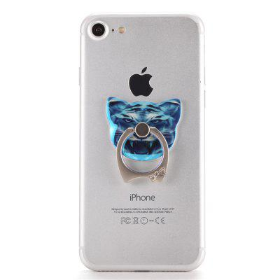 Cell Phone Finger Ring Holder Universal Smartphone Bracket Animal Blue Tiger Ring Grip Kickstand maoxin cute cat head finger grip metal ring kickstand for smartphones blue cats