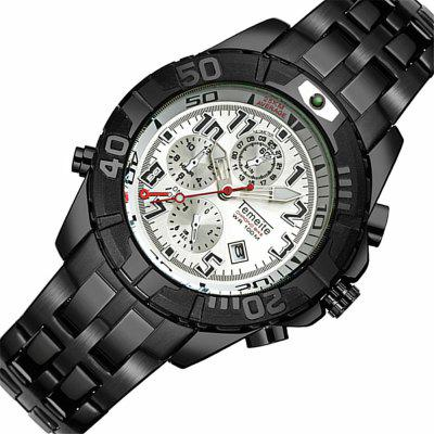 Temeite 4658 New Steel Band Men Quartz Watch with BoxMens Watches<br>Temeite 4658 New Steel Band Men Quartz Watch with Box<br><br>Band material: Fine steel<br>Band size: 22 x 2cm<br>Brand: Temeite<br>Case material: Alloy<br>Clasp type: Folding clasp with safety<br>Dial size: 4.3 x 4.3 x 1.4cm<br>Display type: Analog-Digital<br>Movement type: Quartz watch<br>Package Contents: 1 x Watch, 1 x Box<br>Package size (L x W x H): 28.00 x 8.00 x 3.50 cm / 11.02 x 3.15 x 1.38 inches<br>Package weight: 0.1560 kg<br>Product size (L x W x H): 22.00 x 4.30 x 1.40 cm / 8.66 x 1.69 x 0.55 inches<br>Product weight: 0.1260 kg<br>Shape of the dial: Round<br>Watch mirror: Mineral glass<br>Watch style: Casual, Fashion, Business<br>Watches categories: Men<br>Water resistance: 30 meters