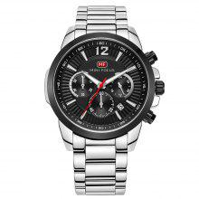MINIFOCUS MF0087G 4867 Leisure Luminous Calendar Quartz Steel Band Men Watch with Box only $25.99 with coupon