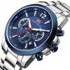 MINIFOCUS MF0087G 4867 Leisure Luminous Calendar Quartz Steel Band Men Watch with Box - BLUE