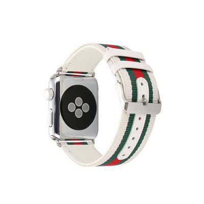Striped Nylon Leather Watch Band Strap for Apple Watch 42MM Series 1 Series 2 Series 3Smart Watch Accessories<br>Striped Nylon Leather Watch Band Strap for Apple Watch 42MM Series 1 Series 2 Series 3<br><br>Material: Nylon, Genuine Leather<br>Package Contents: 1 x Band<br>Package size: 10.00 x 5.00 x 5.00 cm / 3.94 x 1.97 x 1.97 inches<br>Package weight: 0.1000 kg<br>Product weight: 0.0900 kg