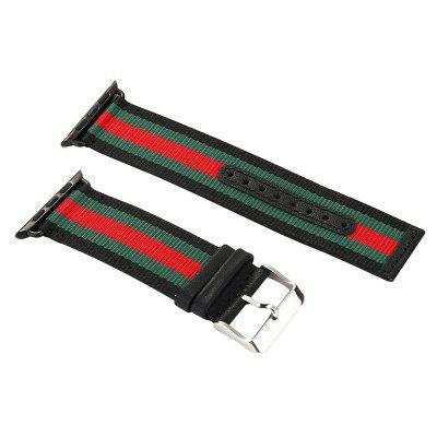 Striped Nylon Leather Watch Band Strap for Apple Watch 38MM Series 1 Series 2 Series 3Smart Watch Accessories<br>Striped Nylon Leather Watch Band Strap for Apple Watch 38MM Series 1 Series 2 Series 3<br><br>Package Contents: 1 x Band<br>Package size: 10.00 x 5.00 x 5.00 cm / 3.94 x 1.97 x 1.97 inches<br>Package weight: 0.1000 kg<br>Product weight: 0.0900 kg