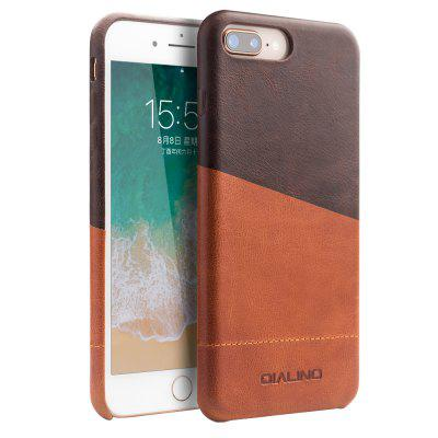 QIALINO 5.5 inch Handmade Genuine Leather Back Case Mix Color Phone Cover for iPhone 7 / 8 Plus