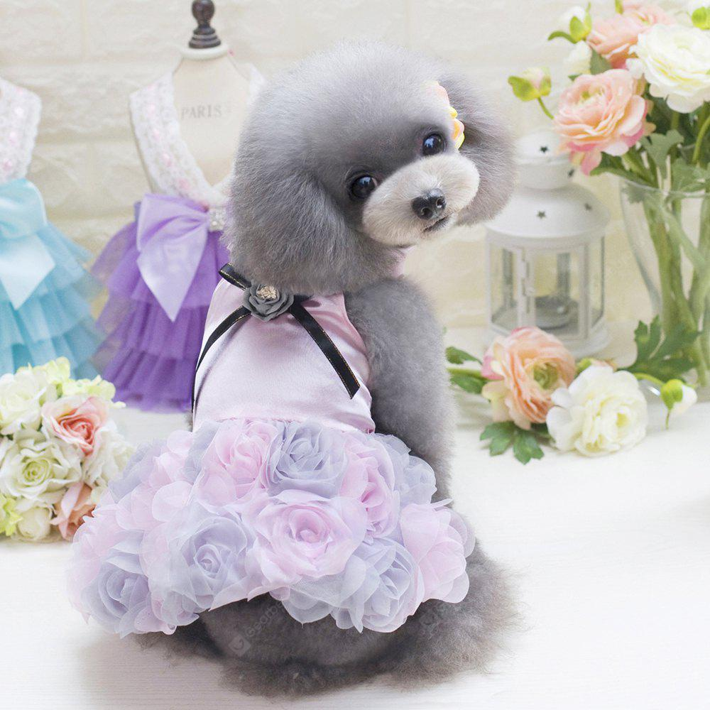 Lovoyager E8 Summer Pets Puppy Princess Wedding Party Skirt Rose Sexy Dress Dogs Costume