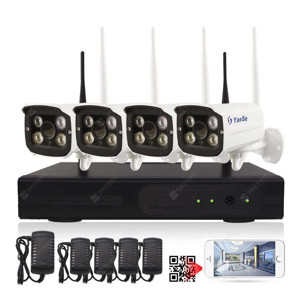 4 Channel 1080P Wireless NVR Kits 4pcs Waterproof IR Night Vision WIFI IP Camera Security System HD 2.0MP