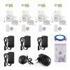 4 Channel 1080P Wireless NVR Kits 4pcs Waterproof IR Night Vision WIFI IP Camera Security System HD 2.0MP - WHITE