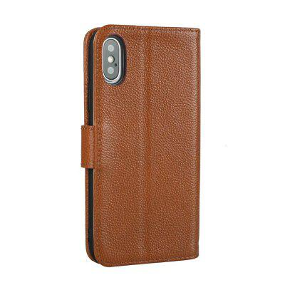 Litchi Texture Geuine Leather Phone Wallet Case with Kickstand for iPhone XiPhone Cases/Covers<br>Litchi Texture Geuine Leather Phone Wallet Case with Kickstand for iPhone X<br><br>Compatible for Apple: iPhone X<br>Features: Cases with Stand, With Credit Card Holder<br>Material: Genuine Leather<br>Package Contents: 1 x Phone Case<br>Package size (L x W x H): 20.00 x 10.00 x 4.00 cm / 7.87 x 3.94 x 1.57 inches<br>Package weight: 0.1600 kg<br>Product weight: 0.1100 kg<br>Style: Vintage, Leather