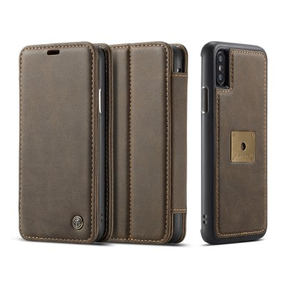 CaseMe Detachable Magnetic Genuine Leather Case Cover for iPhone X