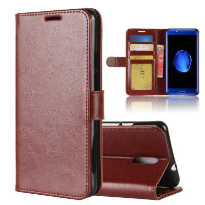 Durable Crazy Horse Pattern Back Buckle Flip PU Leather Wallet Case for Doogee BL5000