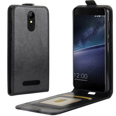 Durable Crazy Horse Pattern Up and Down Style Flip Buckle PU Leather Case for Leagoo M5 Edge