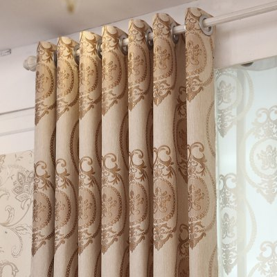 European Style Living Room Bedroom Restaurant Jacquard Curtain SetWindow Treatments<br>European Style Living Room Bedroom Restaurant Jacquard Curtain Set<br><br>Crafts: Jacquard,Yarn Dyed<br>Curtain Pattern: Flower<br>Curtain Style: European Style<br>Curtain Type: Blackout Curtains Drapes<br>Package Contents: 1 x Curtain Set<br>Package size (L x W x H): 40.00 x 21.00 x 11.00 cm / 15.75 x 8.27 x 4.33 inches<br>Package weight: 2.1000 kg<br>Product weight: 2.0000 kg<br>Top Construction: Grommet Top<br>Type: Curtain