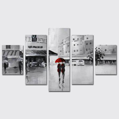 Buy COLORMIX QiaoJiaoHuanYuan No Frame Canvas Street View Decorative Print 5PCS for $32.14 in GearBest store