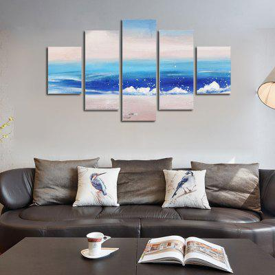 Buy COLORMIX QiaoJiaoHuanYuan No Frame Canvas Sea Wave Decoration Print 5PCS for $32.14 in GearBest store