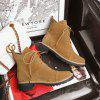 Women's Shoes Lace Up Solid Color Platform Thick Heel Combat Boots - BROWN