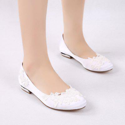 Womens Wedding Shoes Comfort Ballerina Spring Summer Satin Wedding Dress Party  Evening Applique Satin Flower Flat HeelWomens Flats<br>Womens Wedding Shoes Comfort Ballerina Spring Summer Satin Wedding Dress Party  Evening Applique Satin Flower Flat Heel<br><br>Available Size: 36 37 38 39 40 41 42 43 44<br>Closure Type: Slip-On<br>Embellishment: Metal<br>Flat Type: Ballet Flats<br>Gender: For Women<br>Heel Height: 1.5CM<br>Heel Height Range: Flat(0-0.5)<br>Insole Material: PU<br>Lining Material: PU<br>Occasion: Wedding<br>Outsole Material: Rubber<br>Package Contents: 1 x Shoes (Pair)<br>Package size (L x W x H): 32.00 x 13.00 x 10.00 cm / 12.6 x 5.12 x 3.94 inches<br>Package weight: 0.5500 kg<br>Pattern Type: Floral<br>Season: Summer, Spring/Fall<br>Shoe Width: Medium(B/M)<br>Toe Shape: Pointed Toe<br>Toe Style: Closed Toe<br>Upper Material: Satin