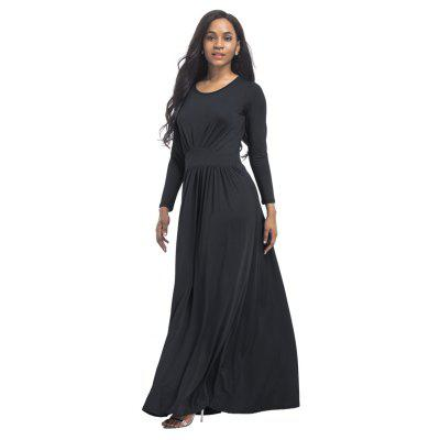 Womens O Neck Long Sleeve Maxi Long DressBodycon Dresses<br>Womens O Neck Long Sleeve Maxi Long Dress<br><br>Dresses Length: Ankle-Length<br>Elasticity: Super-elastic<br>Fabric Type: Broadcloth<br>Material: Spandex, Polyester<br>Neckline: Round Collar<br>Package Contents: 1 x Dress<br>Pattern Type: Solid<br>Season: Fall<br>Silhouette: Straight<br>Sleeve Length: Long Sleeves<br>Style: Fashion<br>Weight: 0.2500kg<br>With Belt: No
