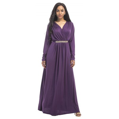 Womens Maxi Long V Neck Long Sleeve Pleated DressMaxi Dresses<br>Womens Maxi Long V Neck Long Sleeve Pleated Dress<br><br>Dresses Length: Ankle-Length<br>Elasticity: Super-elastic<br>Fabric Type: Broadcloth<br>Material: Spandex, Polyester<br>Neckline: V-Neck<br>Package Contents: 1 x Dress<br>Pattern Type: Solid<br>Season: Fall<br>Silhouette: Straight<br>Sleeve Length: Long Sleeves<br>Style: Fashion<br>Weight: 0.2000kg<br>With Belt: No