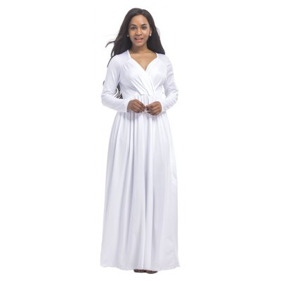 Womens Maxi Long Dress Square Collar Long Sleeve Solid ColorMaxi Dresses<br>Womens Maxi Long Dress Square Collar Long Sleeve Solid Color<br><br>Dresses Length: Ankle-Length<br>Elasticity: Super-elastic<br>Fabric Type: Broadcloth<br>Material: Spandex, Polyester<br>Neckline: V-Neck<br>Package Contents: 1 x Dress<br>Pattern Type: Solid<br>Season: Fall<br>Silhouette: Straight<br>Sleeve Length: Long Sleeves<br>Style: Fashion<br>Weight: 0.2500kg<br>With Belt: No