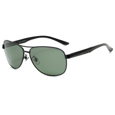 Buy BLACK FRAME + BLACKISH GREEN TOMYE 9175 Al-Mg Alloy Aviator Polarized Sunglasses for Men for $20.98 in GearBest store
