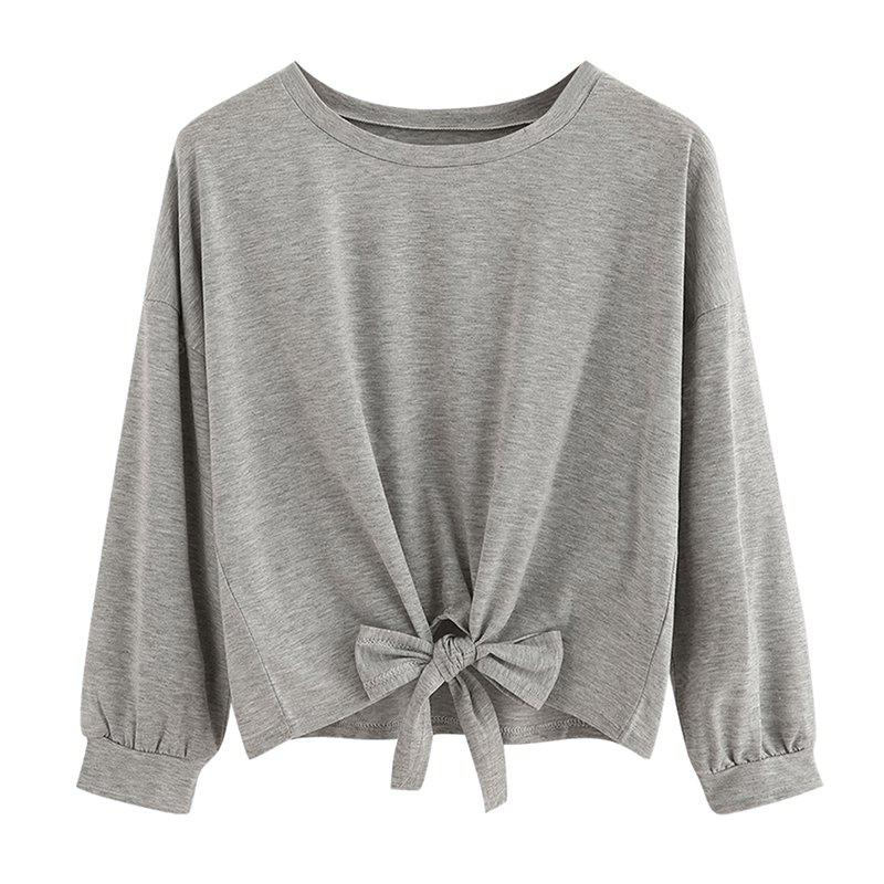 Women's Fashion Round Neck Long-Sleeved T-Shirt
