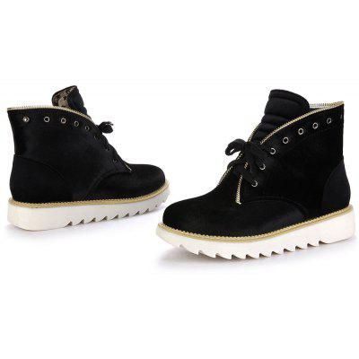 New Suede Front Lace Round Head Martin BootsWomens Boots<br>New Suede Front Lace Round Head Martin Boots<br><br>Boot Height: Ankle<br>Boot Tube Height: 12<br>Boot Type: Fashion Boots<br>Closure Type: Lace-Up<br>Gender: For Women<br>Heel Height: 3<br>Heel Height Range: Low(0.75-1.5)<br>Heel Type: Flat Heel<br>Outsole Material: Rubber<br>Package Contents: 1 xShoes?pair?<br>Pattern Type: Solid<br>Season: Spring/Fall, Winter<br>Toe Shape: Round Toe<br>Upper Material: Flock<br>Weight: 1.2320kg