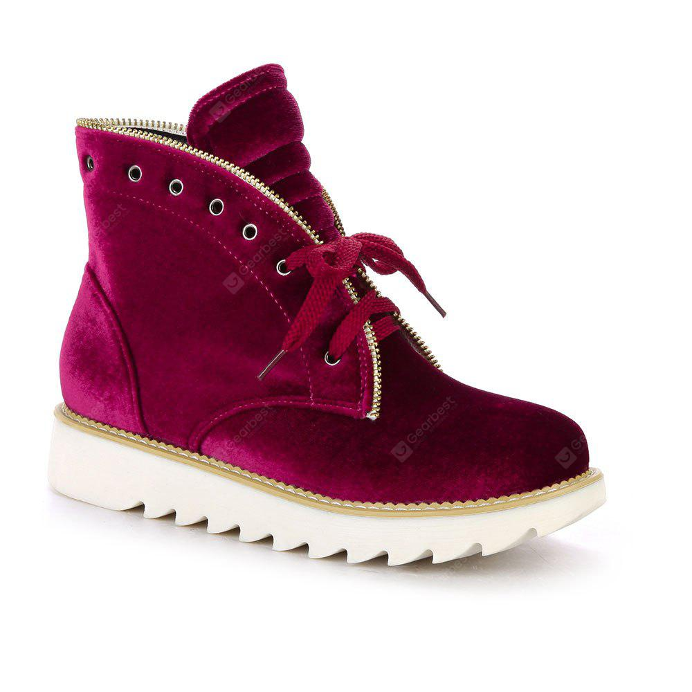 New Suede Front Lace Round Head Martin Boots