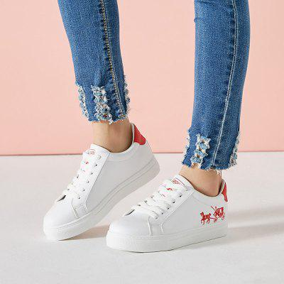 Faux Leather Round Toe Sport Leisure Flat ShoesWomens Casual Shoes<br>Faux Leather Round Toe Sport Leisure Flat Shoes<br><br>Available Size: 35 36 37 38 39 40 41<br>Closure Type: Lace-Up<br>Embellishment: None<br>Gender: For Women<br>Insole Material: PU<br>Lining Material: Cotton Fabric<br>Occasion: Casual<br>Outsole Material: Plastic<br>Package Contents: 1 x shoes(pair)<br>Pattern Type: Character<br>Season: Spring/Fall<br>Shoe Width: Medium(B/M)<br>Toe Shape: Round Toe<br>Toe Style: Closed Toe<br>Upper Material: PU<br>Weight: 1.1340kg