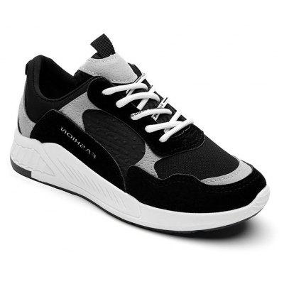 Women Air Permeability Thick Bottom Running Shoes BLACK